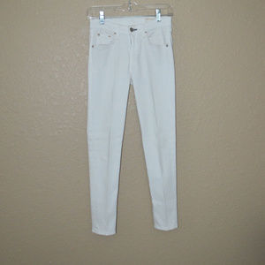 Sz 26 Rag & Bone Bright White Capri Skinny Jeans